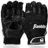 Franklin Sports Shok-Sorb X Batting Gloves - Black/Black - Adult Large