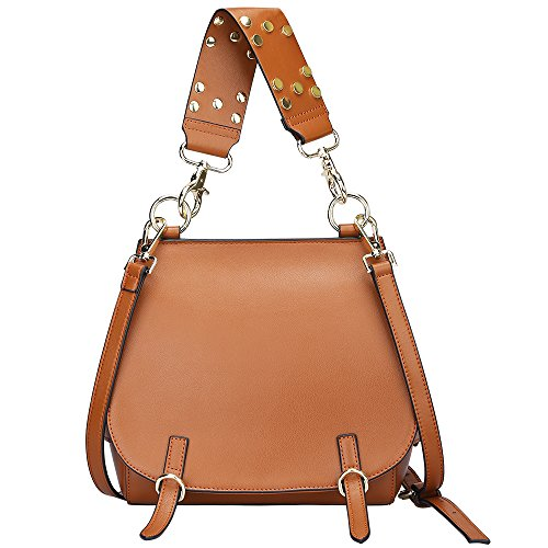 S-ZONE Women's Leather Handbags Purse Shoulder Crossbody Bags