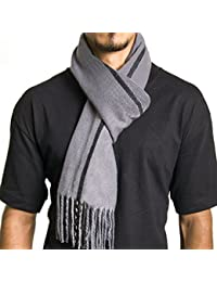 Mens Plaid Scarf Soft Winter Scarves Unisex