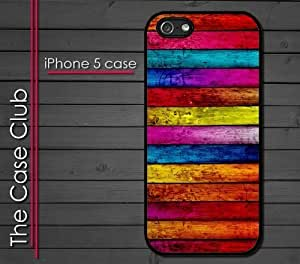 MEIMEI ipod touch 5 (New Color Model) Rubber Silicone Case - Color Wood Colorful Wood patternLINMM58281