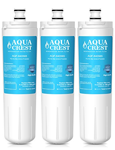 AQUACREST 640565 Replacement for Bosch 640565,Whirl WHKF-R-PLUS Refrigerator Water Filter(Pack of 3)