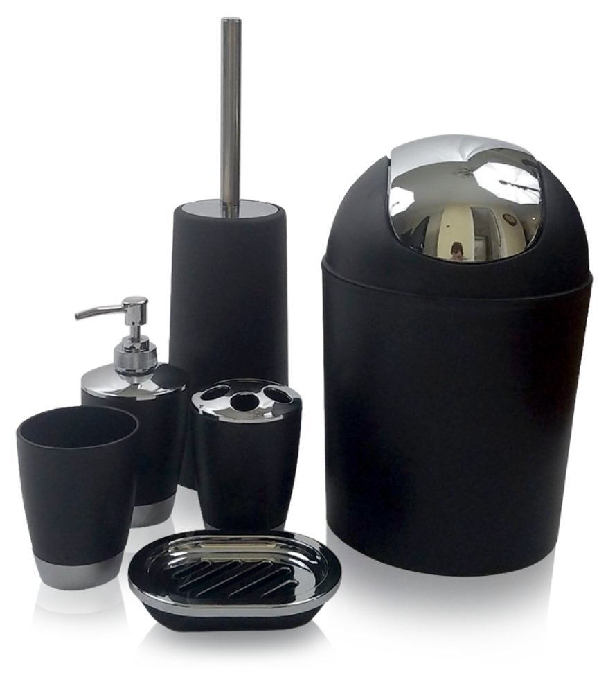 GSCW Bath Accessory Set, Black. By FBA_COMIN18JU074709