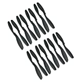 RAYCorp® 8045 8x4.5 Propellers. 16 Pieces(8 CW, 8 CCW) Black High Quality 8-inch Quadcopter and Mutlirotors Props + Battery Strap