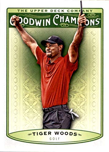 2019 Upper Deck Goodwin Champions #25 Tiger Woods Golf Card
