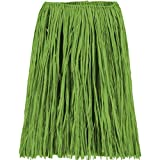 Amscan Hawaiian Summer Luau Party Adult Hula Skirt Wearables, 1 Piece, Made from Raffia, Green, 28'' x 31'' by