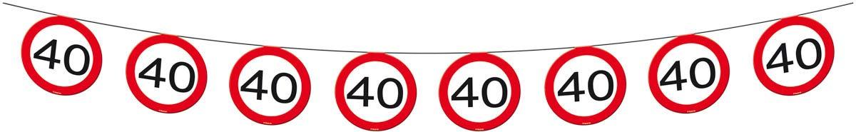 Ghirlanda con segnali stradali 40 anni 12 metri