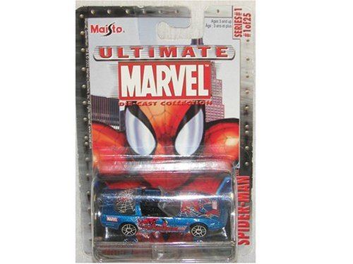 Zr Series (Ultimate Marvel Die Cast 1:64 Spider-Man Chevrolet Corvette ZR-1 Series 1 #1)