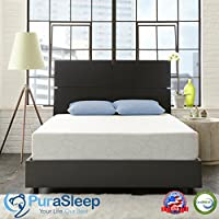 PuraSleep SynerGel NextGen Luxury Cool Comfort Memory Foam Mattress – Made In The USA - 10 Year Warranty - Queen