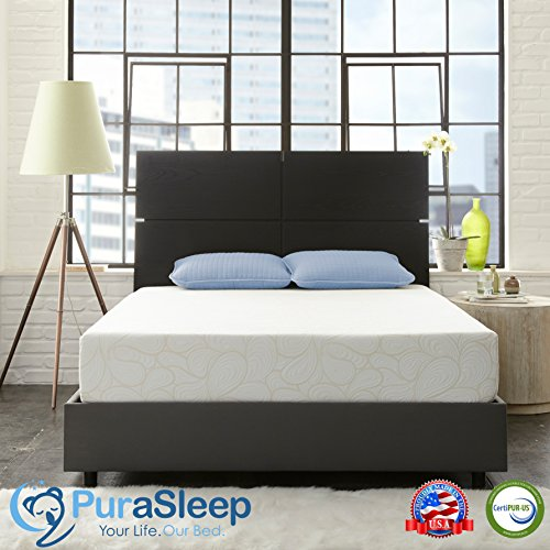 Purasleep synergel luxury cool comfort memory foam for Are memory foam mattresses comfortable