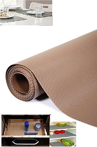 Skywalk PVC Multipurpose Anti-slip Eva Mat with Brass Horse Shoe Naal, 45x125cm (Dark Brown) Place Mats at amazon