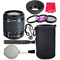 Canon EF-S 18–55mm f/3.5–5.6 IS STM Lens For Canon T3 T5 T6 T3i T5i T6i T6s 70D 60D 80D 700D 750D 600D 7D Mark II DSLR Cameras + Complete Accessory Kit - International Version (No Warranty)