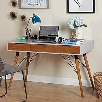 Simple Living Mid-Century Computer Desk