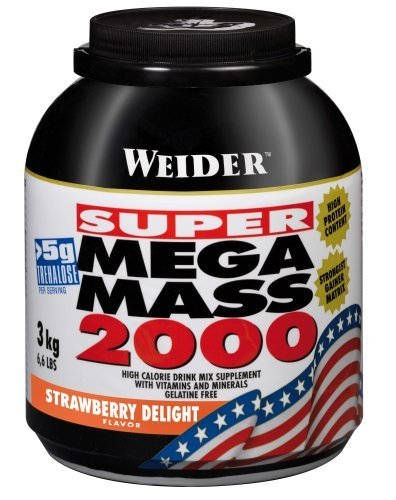 Weider Nutrition Mega Mass 2000 Strawberry 3000g by Weider