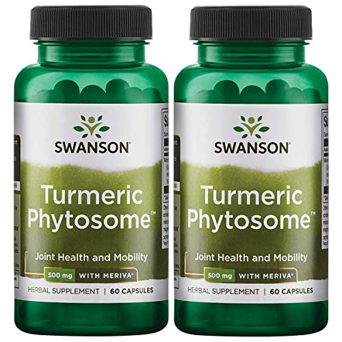 Swanson Turmeric Phytosome with Meriva 500 Milligrams 60 Capsules 2 Pack