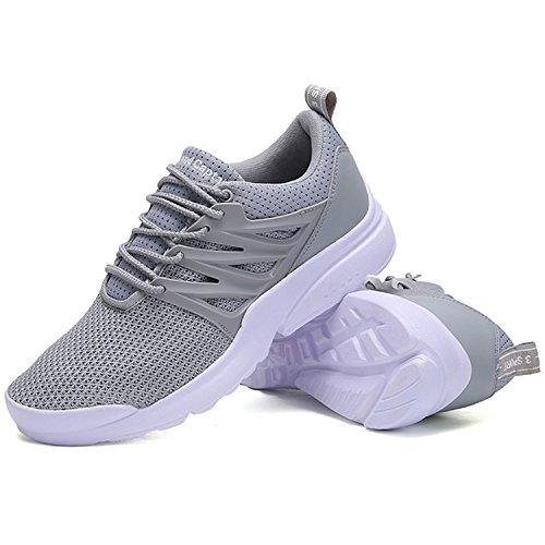 Light JACKSHIBO Unisex Women Shoes Breathable Sports Fashion Casual Athletic Sneakers Grey Couple Men qBfw1qP