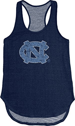 Blue 84 NCAA North Carolina Tar Heels Adult Women NCAA Women's Tri Blend Panel Tank,Medium,Navy