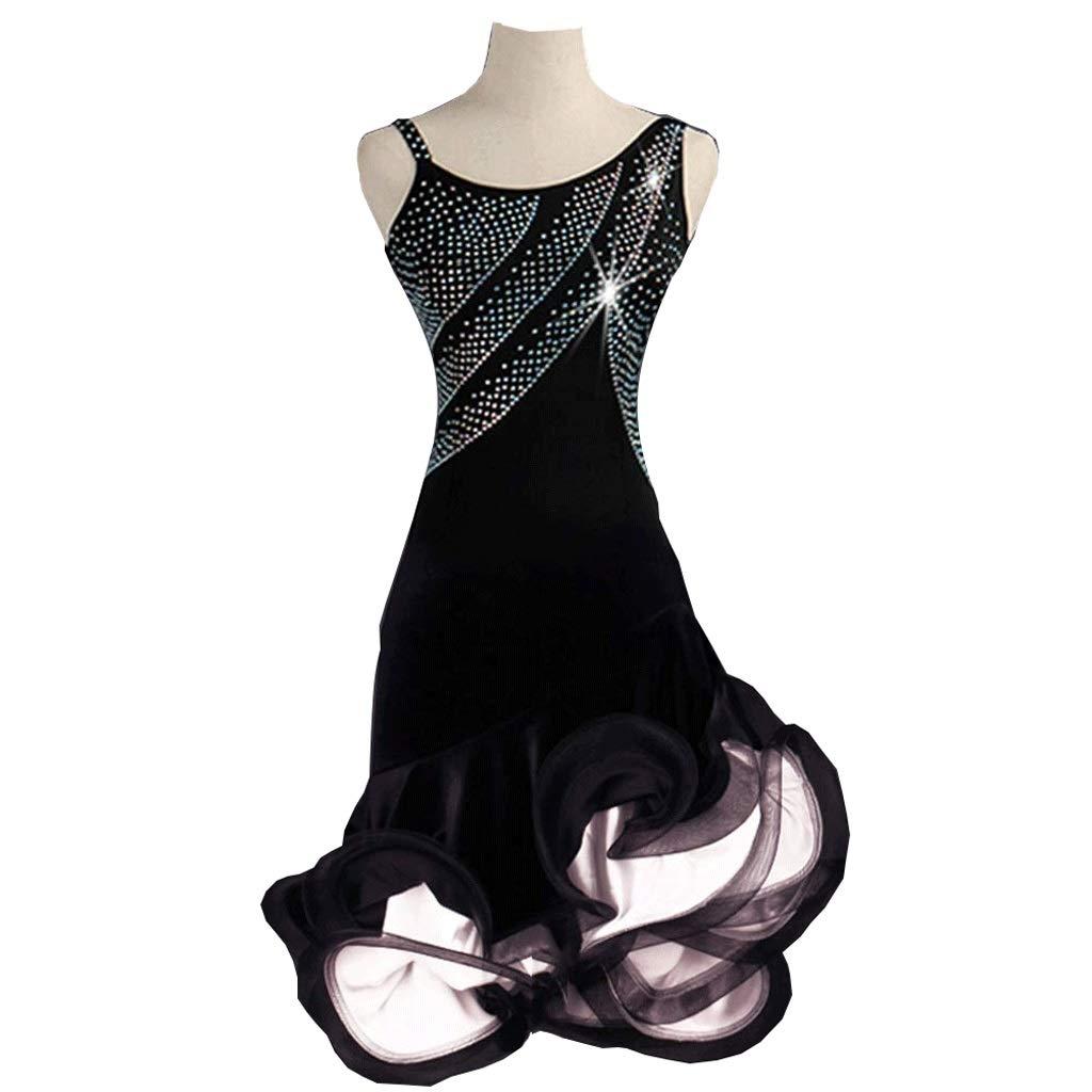 驚きの値段で 女性のビロードのラテンダンスのダンスドレス、ノースリーブラインストーンタンゴダンスフィッシュボーンスカートイブニングパーティー社交的なドレス L B07QTKMVKX L l|白 白 l L L l, 花&雑貨フロレゾン:d659b696 --- a0267596.xsph.ru