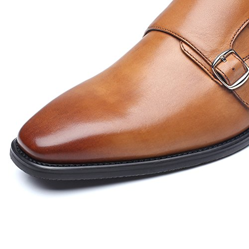 La Milano Mens Double Monk Strap Slip On Loafer Leather Oxford Formal Business Casual Comfortable Dress Shoes for Men by La Milano (Image #5)