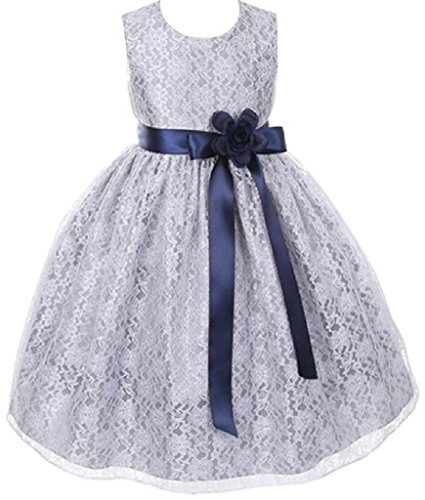 Little-Girls-Silver-Dress-Lace-Custom-Ribbon-Flowers-Girls-Dresses