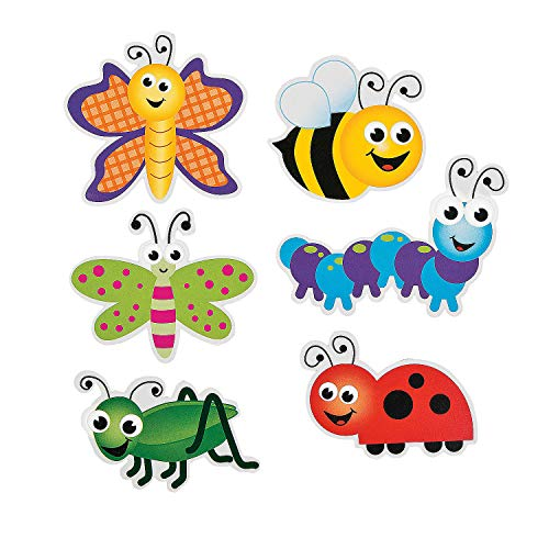 Fun Express - Bulletin Board Cutouts - Bugs - Educational - Classroom Decorations - Bulletin Board Decor - 48 ()