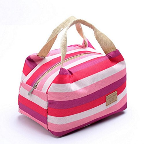 Pranzo Borsa, Culater Lunchbox per Porta pranzo Picnic isolato Food Storage Box Zipper Tote Bento Pouch Lunch Bag (Rosso)