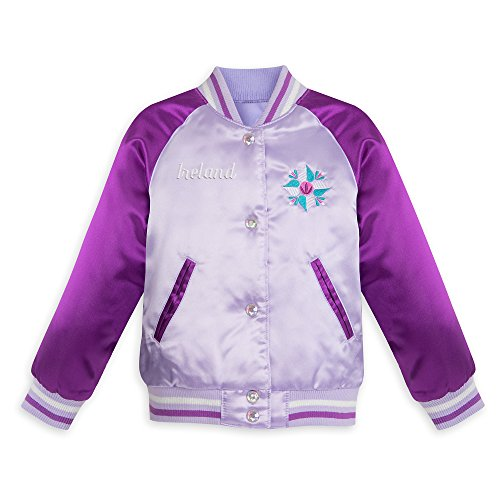 Disney Frozen Varsity Jacket for Girls - Size 5/6 Purple