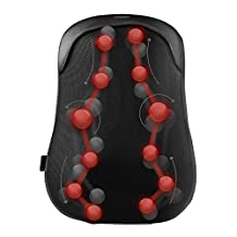 Naipo Back Massager Shiatsu Back Massage Cushion with S-track, Kneading, Thai Step Massage and Heating for Upper, Lower Back, Lumbar and Waist