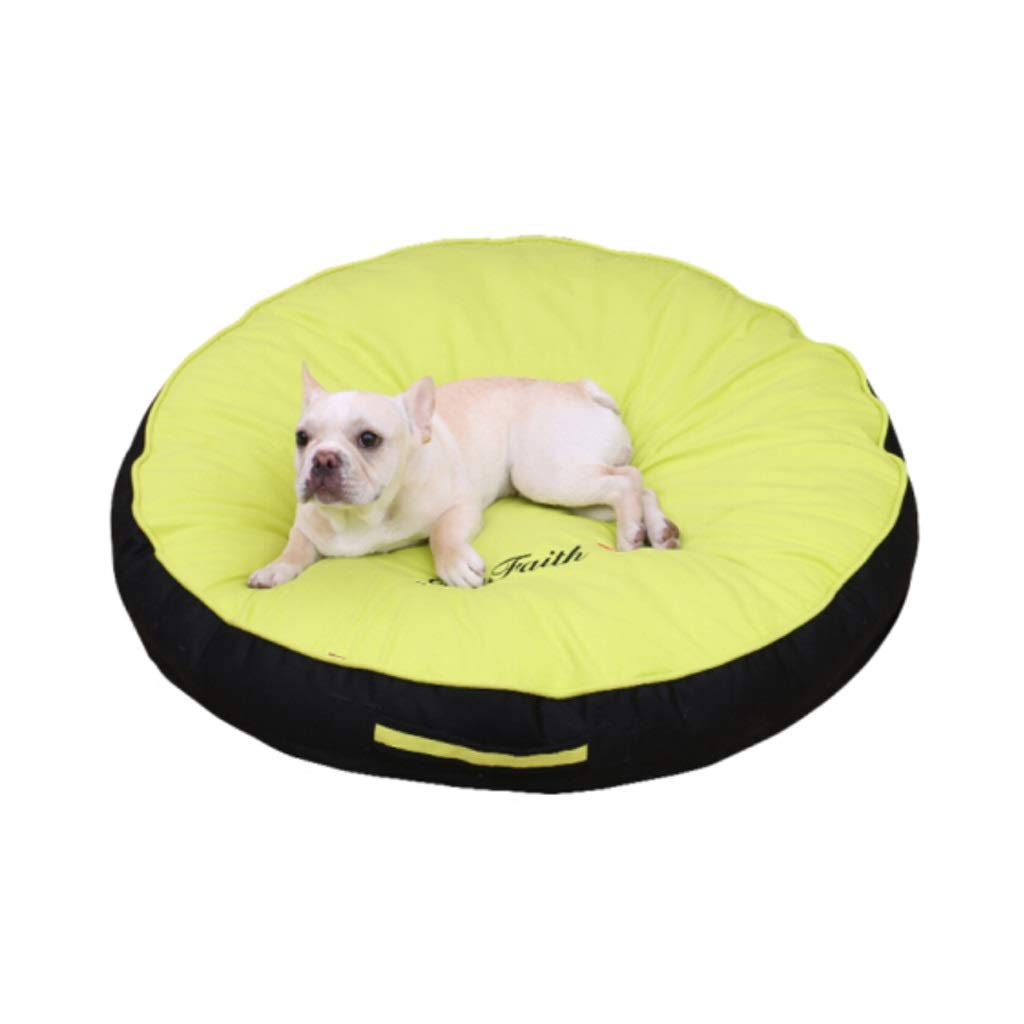 Green Stylish and Comfortable Round Pet Bed-Multiple colors Available,Anti-Microbial Removable Waterproof Washable Non-Slip Cover (color   Green)