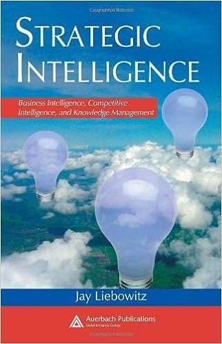 Strategic Intelligence: Business Intelligence, Competitive Intelligence, and Knowledge Management