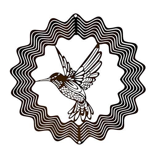 Risaho Kolibri Windspiel Metall Aluminiumrohr Handgefertigtes Hängende Ornament Verzierung für den Innen- und Außenbereich für Ihre Terrasse und Garten