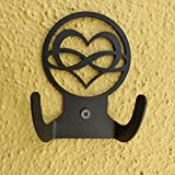 HeavenlyKraft Love Infinity Logo Steel Wall Hook Dual Holder for Living Room Coat Hat Robe Hanger Bathroom Towel Kitchen Strong Heavy Duty Garage Storage Organizer Utensil Hook Single