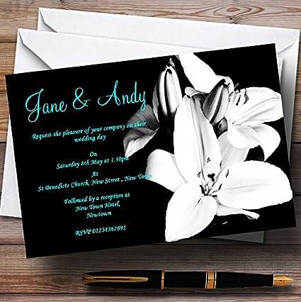 Amazon.com : Stunning Lily Black White Turquoise Personalized ...