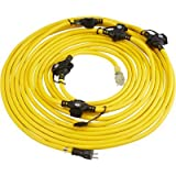 Cerrowire 614-16367BB 50-Feet 12/3 In-Line 6-Outlet Multi-Outlet Cord, Yellow
