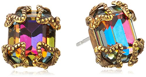 Sorrelli Antique-Inspired Emerald-Cut Button Earrings