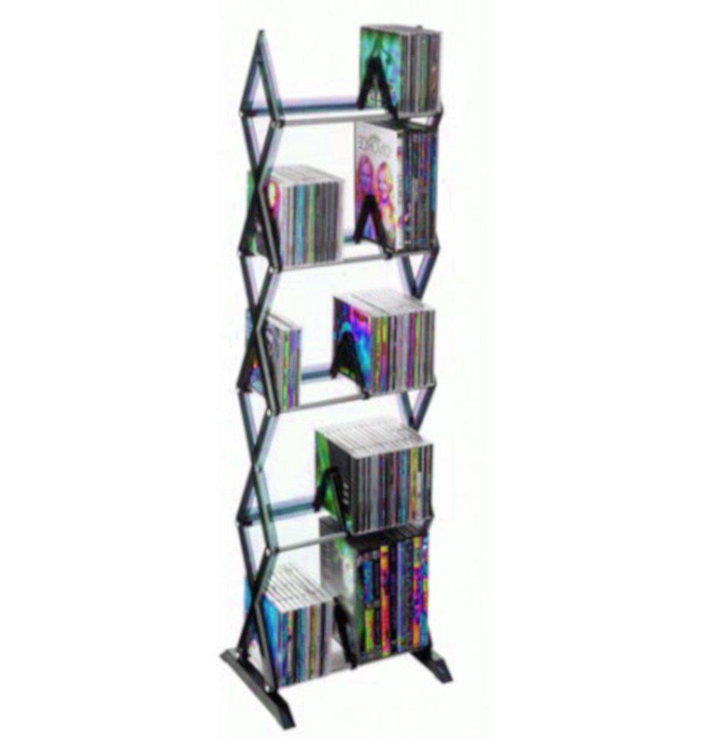 ATS CD Floor Stand DVD Bookcase Media Storage Cabinet Rack Case Shelf Tower Game Disc 5 Tier Organizer & Ebook by AllTim3Shopping.