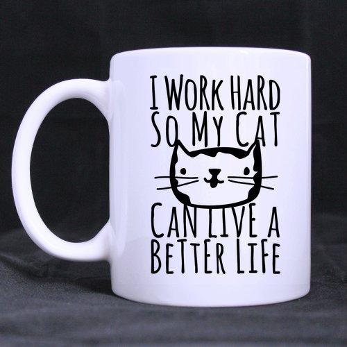 funny cat mug gift for cat lover