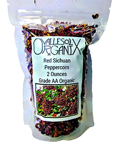 Red Sichuan Peppercorn - 2 Oz - Grade AA Organic