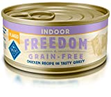 BLUE Freedom Adult Indoor Grain Free Flaked Chicken Wet Cat Food 5.5-oz (Pack of 24)