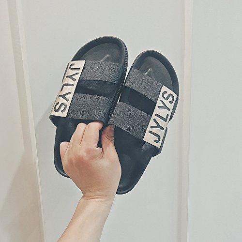 Estate pigrizia fankou anti slittamento Nero trend spiaggia scarpe home pantofole le personal da indoor gqqwZxd81