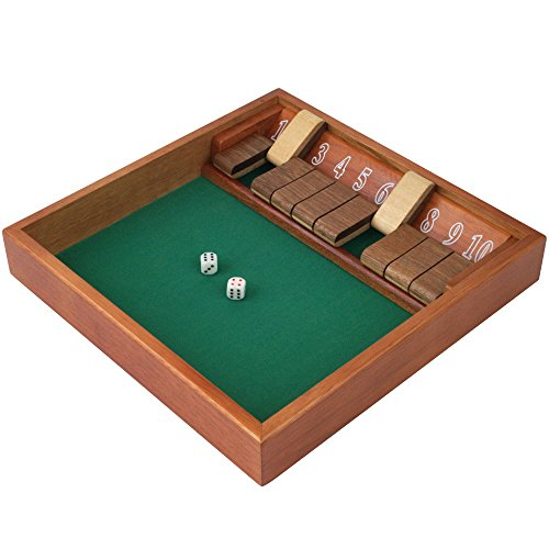 Trademark Games 80-SHADOW10 Shut The Box (1-10) Zero Out Game by Trademark Games
