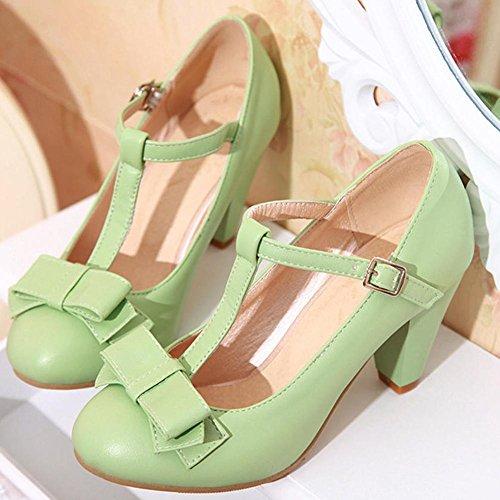 Sandalias Poliuretano Mujer Verde con de DoraTasia 1 Color 5 UK cuña Talla BdwAC6
