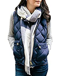 Fixmatti Women's Lightweight Quilted Padding Jacket Vest with Pockets