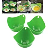 LING'S SHOP 1pcs Silicone Egg Poacher Cook Poach Pods Poached Baking Cup Kitchen Cookware Tool