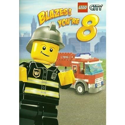 Lego City Fire diseño para niños departamento 8th cumpleaños ...