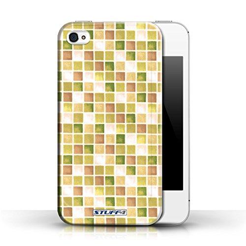Etui / Coque pour Apple iPhone 4/4S / Jaune/Marron conception / Collection de Carreau Bain