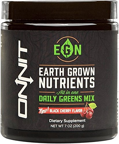 Onnit Earth Grown Nutrients | Organic Superfoods Supplement with Key Micronutrients and Minerals | Black Cherry (200g)