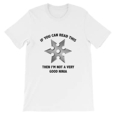 Amazon.com: VectorPlanet Can Read This Ninja Star T-Shirt ...