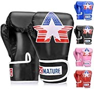 Xnature Kids Boxing Gloves, PU Children Kickboxing Sparring Youth Boxing Or Training Glove
