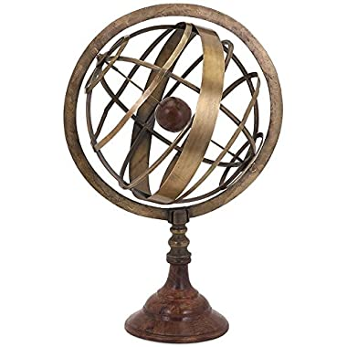Armillary Globe, 19 Hx12 Wx10 D, BRONZE