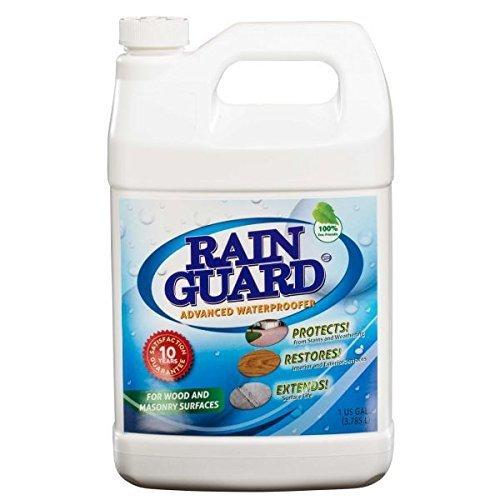Rainguard Waterproofer Advanced 1 Gal Masonry & Wood Water Sealer For Driveways, Decks, Patio's, Walkway's, Pavers 10 Yr